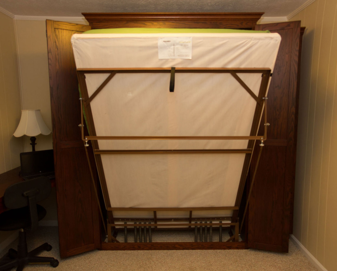 EZ-rest murphy bed frame in action