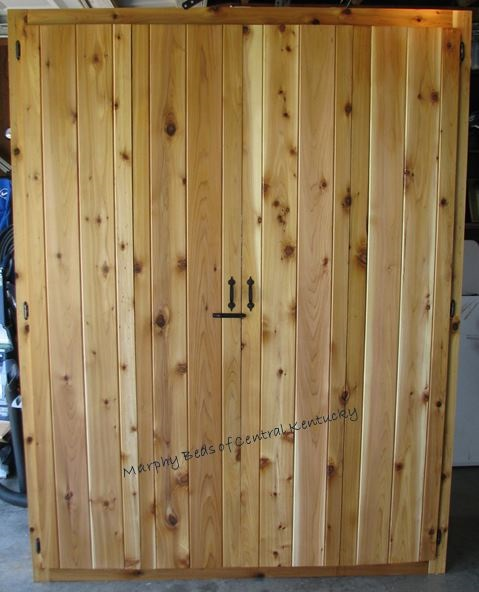 Cedar full size Murphy bed