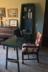 green Murphy desk unit - open
