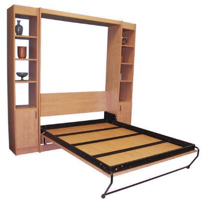 Alpha Bed Murphy bed Frame - open panel door in a Murphy Bed cabinet